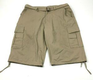 BTL Cargo Shorts Mens Size 42 Big and Tall Chino Khaki Tan Adult Loose 15 Inseam