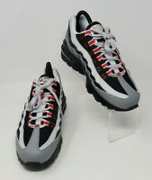 Nike Air Max 95 GS Youth Size 7Y Particle Grey Red Black Shoe 905348-036 New