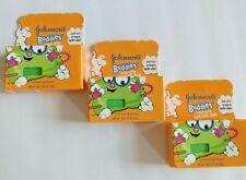 3 Johnson's Buddies Easy-Grip Sudzing Bars NOS - RARE - Discontinued - Baby Soap