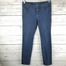 Womens Michael Kors Skinny Jeans Size 2 x 28 Blue Ankle Dark Wash Mid Rise Denim