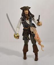 "2003 Captain Jack Sparrow 6.75"" Action Figure Disney Pirates Of The Caribbean"