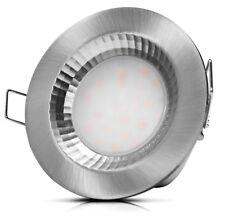 Flacher LED Einbaustrahler Atlantic IP54 / 220Volt / 5W / Silber geb / Warmweiss
