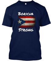 Puerto Rico Hurricane Assistance - Boricua Strong Hanes Tagless Tee T-Shirt