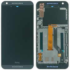HTC Desire 626G Dual Sim Display modul LCD Display Touchscreen Rahmen Cover blau