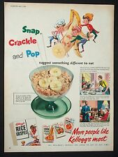 KELLOGG'S RICE KRISPIES - Vintage Full-Page Colour Magazine Advert - (1954) *