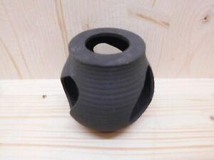 Höhlen Verstecke Deko Fische Garnelen Welse Leichhöhle Vase schwarz mit Löcher