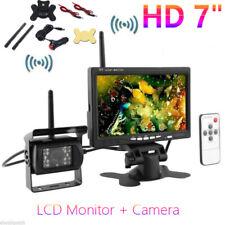 """HD Wireless 7"""" Car TFT LCD Monitor + Camera Rear View Backup Night Vision Truck"""