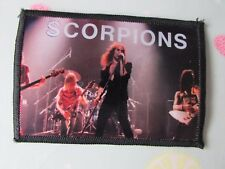 Original SCORPIONS with Band Image 1980's Sew on Badge / Patch