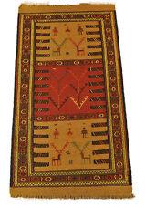 COUREURS DE KILIM qouchan 185 x 100 cm TAPIS laine NOMAD CARPETTE Tribale 1513