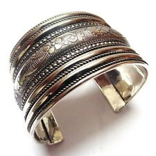 NEW BELLY DANCE KUCHI HANDCRAFTED OXIDIZED VINTAGE STYLE BRECELET JEWELRY INDIA