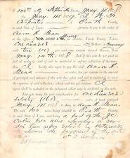 1879 Stephenville Texas William Carpenter Homesteader To Aaron H Bean 160 Acres