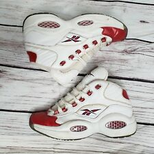 REEBOK ALLEN IVERSON ICE THE QUESTION Mens 8.5 1996 OG WHITE RED BLUE Basketball