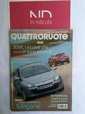 QUATTRORUOTE 638 DICEMBRE 2008 - VOLKSWAGEN GOLF 1.4 TSI 122 CV  BMW 320D