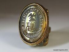 Intaglio Fob Wax Seal Armorial LORD LUCAN BINGHAM Family Arms Crest