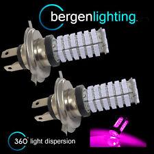2x H4 rosa 120 LED Anteriori Abbaglianti e Anabbaglianti Kit Luci Anteriori Xeno hm501001