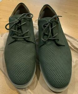 SOFTWALK Willis Oxford Comfort Shoes Sage Green Size 10W Wide