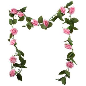 Artificial Rose Flower Garland  - 6ft Long