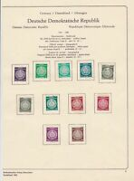 germany 1954-56 democratic republic stamps page  ref 18744