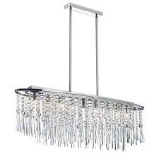 """New Modern 8 Lamp Crystal Chandelier Pendant Ceiling Light Chrome Dia 36"""""""