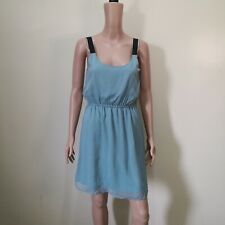 C871 - Xhilaration Light Blue Sheer Strap Dress with Lining