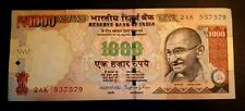 INDIA 1000 1,000 RUPEES GANDHI OIL RIG, INDIAN CURRENCY MONEY BANK NOTE