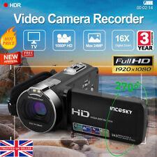 Digital 2.7'' 1080P Hd Video Camera 16x Zoom 24Mp Dv Camcorder Night Light Black