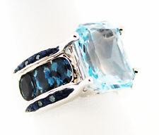 Glacier Topaz ™ 8.59 Ct. Oct., Barehipani Topaz ™ Blue Diamond Ring Sz 7