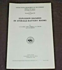 New listing Us Department Of Interior /Mines 1940 Explosion Hazards in Storage-Battery Rooms