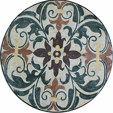 Medallion Round Decor Floor Forest Interior Home Marble Mosaic MD1453