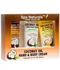 SPA NATURALS HAND &BODY CREAM COCONUT OIL & SHEA BUTTER,VANILLA TRAVEL SIZE 1FL