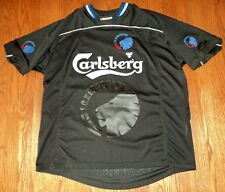 Carlsberg FC Kobenhavn Copenhagen men's size XL black Soccer Football Jersey EUC