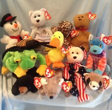 Ty Beanie Babies Lot of 12 Animals 1993 to 2002 All Retired 3+ Boys Girls $11.99