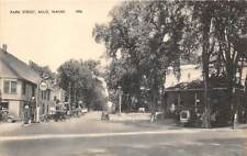 MILO, ME, PARK STREET, TYDOL GAS STATION PUMPS, CARS, AMERICAN ART PUB c. 1930's