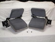 93 - 97 FORD RANGER MAZDA EXTENDED CAB INTERIOR GRAY CLOTH REAR JUMP SEATS BELTS