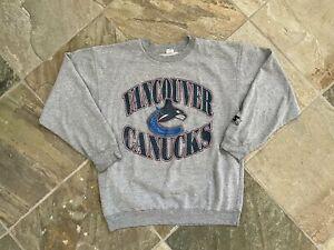 Vintage Vancouver Canucks Starter Hockey Sweatshirt, Size Large
