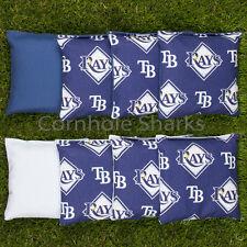 Cornhole Bean Bags Set of 8 ACA Regulation Bags Tampa Bay Rays Free Shipping