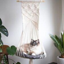 Cat Hammock Tapestry Swing Bed Hanger Macrame Wall Hanging Shelf Home Decoration