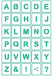 30 Buchstaben Schablonen ● Schriftschablonen Alphabet Nr.4 ● verschiedene Größen