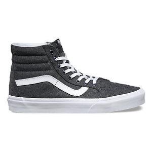 Vans VARSITY SK8-Hi Reissue Mens Shoes NEW Charcoal Grey High Tops FREE SHIPPING