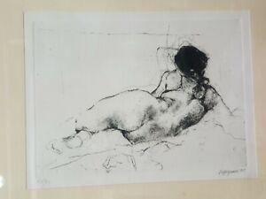 """Renzo Vespignani (1924-2001) Litografia """"Nudo di donna """" 68/90 cm. 24x30  C10 ^"""