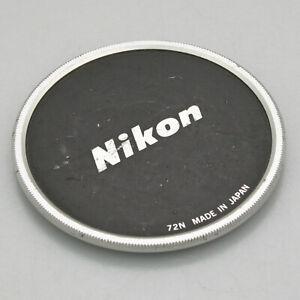 Nikon 72N 72mm Metal Screw In Lens Cap - For Nikon 300mm f/4.5, 135mm f/2, etc