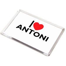 DOOR PLAQUE - I Love Antoni - Boy's Name Gift
