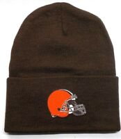 READ LISTING! Cleveland Browns HEAT Applied Flat Logo on Beanie Knit Cap hat