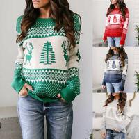 Women Long Sleeve Sweater Casual Sweatshirt Christmas Jumper Pullover Knit Tops