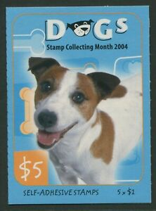 CATS & DOGS 2004 - MINT FOLDED BOOKLET OF $1 SELF-ADHESIVES