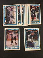 1990/91 Topps Toronto Maple Leafs Team Set 18 Cards