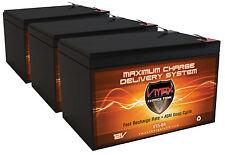 QTY:3 Zida 500WET36V VMAX64 AGM 12V 15Ah AGM Deep Cycle Scooter Backup Battery