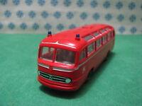 Mercedes-Benz Bus of Firefighters of Fuoco-Pompieri - 1/87 Brekina