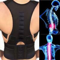 Magnetic Posture Corrector Belt for Lumbar Lower Back Support Shoulder Brace GN