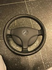 MERCEDES W168 A CLASS GREY LEATHER STEERING WHEEL